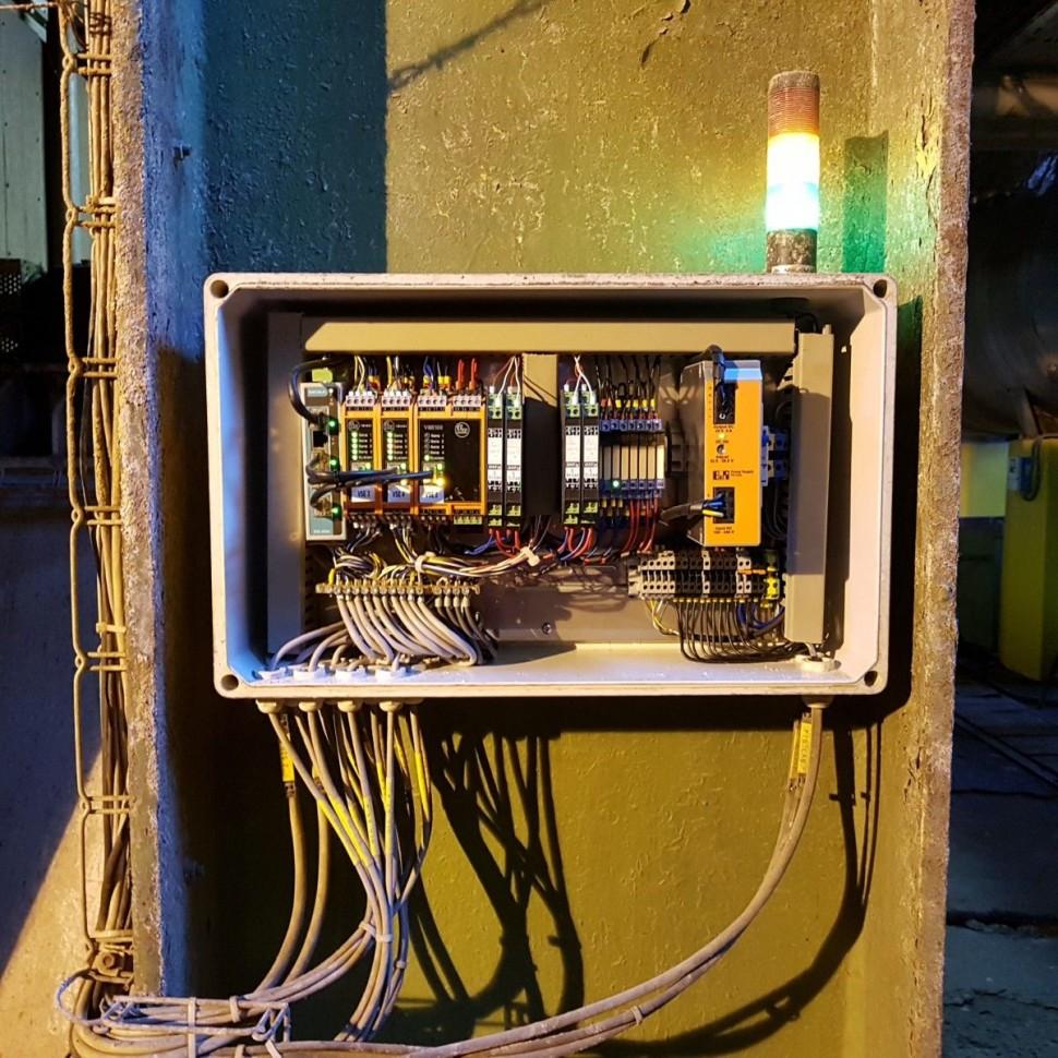 Monitorovacia skrina vzduchovych ventilatorov ( primarny a sekundarny )