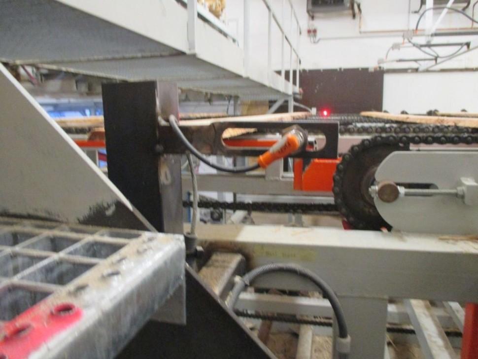 Měření řady automatické ukladání bočního řeziva