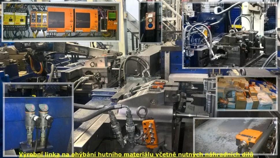 Výrobní linka - ohýbání hutního materiálu (včetně nutných náhradních dílů..)